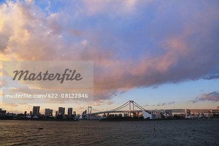 View of Odaiba bay, Tokyo, Japan