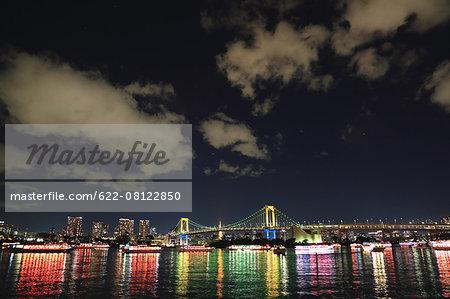 Night view of Odaiba bay, Tokyo, Japan
