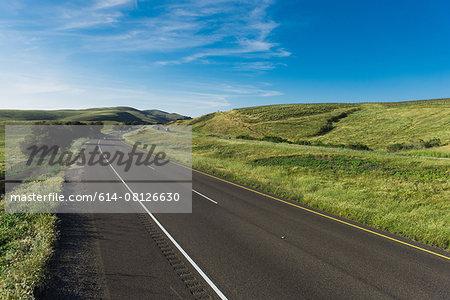 Empty highway landscape, Santa Barbara, California, USA