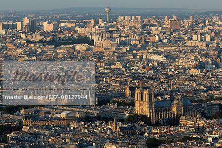 Paris city. Notre-Dame de Paris cathedral. Paris. France.