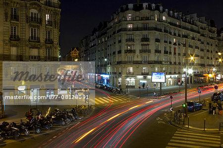 France, Paris, Gare de Lyon area, Boulevard Diderot, night