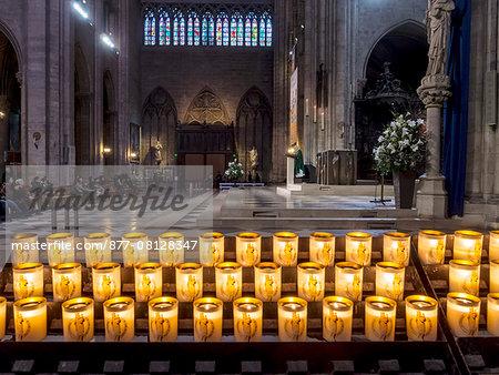 France, Paris, interior of Notre dame de Paris church