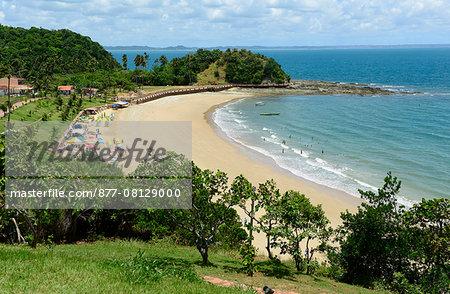 the beach of Ponta de Nossa Senhora at ilha dos Frades  on the northeast coast of Brazil ,South America