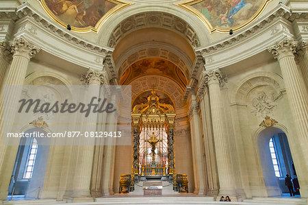 France. Paris 7th district. Invalides. The church Saint Louis des Invalides, built between 1677 and 1706. Architect: Jules Hardouin-Mansart. The choir.