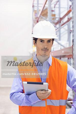 Industrial plant engineer, portrait