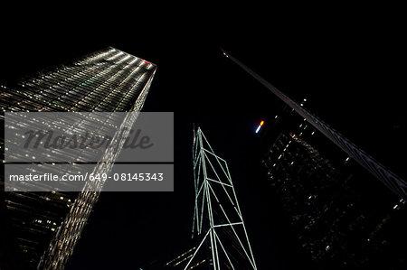 Financial district, Bank of China Tower and Cheung Kong Center, Hong Kong