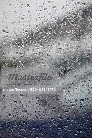 Raindrops on Window, Hamburg, Germany