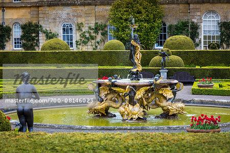 Italian Garden at Blenheim Palace, Woodstock, Oxfordshire, England, United Kingdom