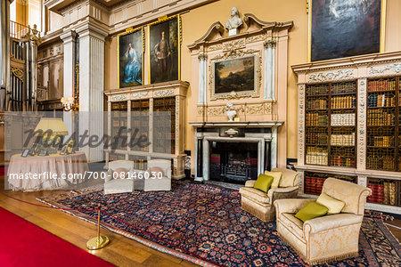 Library at Blenheim Palace, Woodstock, Oxfordshire, England, United Kingdom