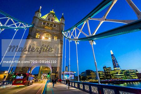 London Bridge at Dusk, London, England, United Kingdom