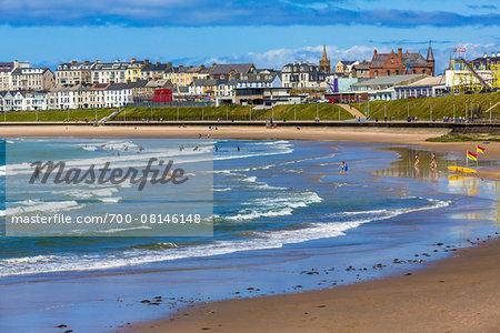 Beach at Portrush, County Antrim, Northern Ireland, United Kingdom