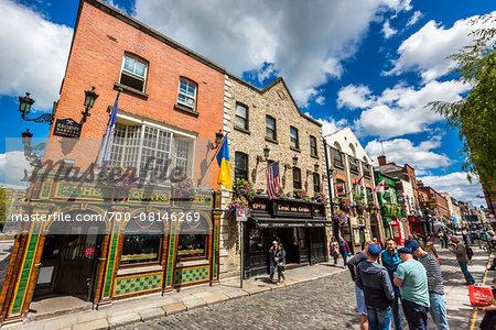 Street scene, Temple Bar square, Dublin, Leinster, Ireland