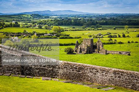 Hore Abbey, a ruined Cistercian monastery near the Rock of Cashel, Cashel, County Tipperary, Ireland