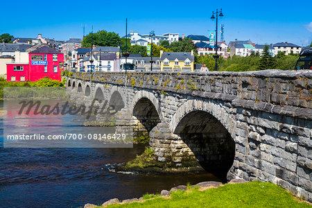 Killorglin County Bridge, River Laune, Killorglin, along the Skellig Coast on the Ring of Kerry, County Kerry, Ireland