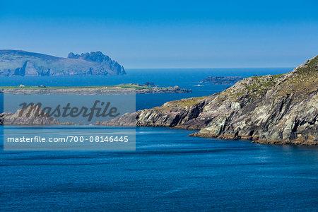Scenic, coastal view, Slea Head, Slea Head Drive, Dingle Peninsula, County Kerry, Ireland