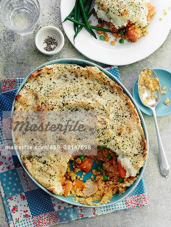 Shepherd's pie with lentils (England)