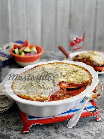 Greek lamb and aubergine pie