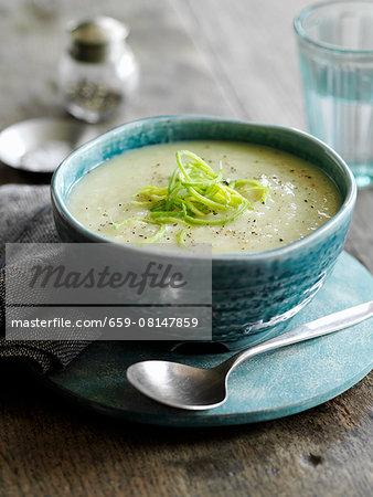 Classic leek and potato soup