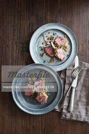 Crispy lamb chops