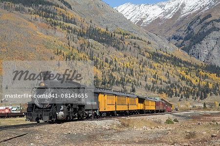 Durango and Silverton Narrow Gauge Railroad, Silverton, Colorado, United States of America, North America