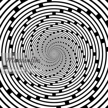 Design spiral striped backdrop. Abstract monochrome background. Vector-art illustration