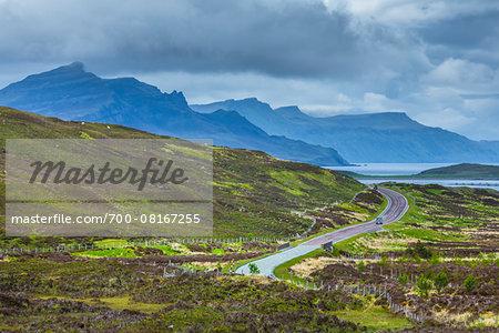 Road near Sconser, Isle of Skye, Scotland, United Kingdom