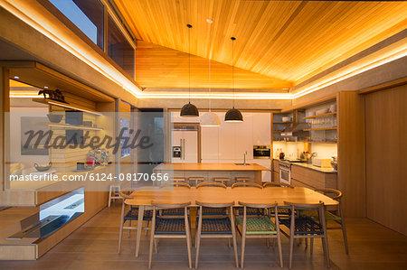 Illuminated home showcase kitchen