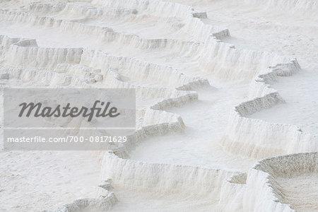 Travertine rock formations, Pamukkale, Turkey