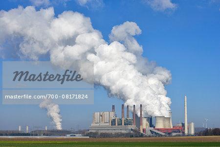 Coal Fired Power Station Neurath, Grevenbroich, North Rhine-Westphalia, Germany