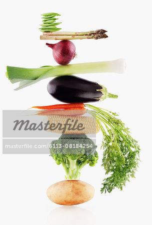 Raw vegetables balancing
