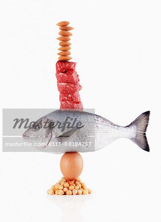Raw healthy foods balancing