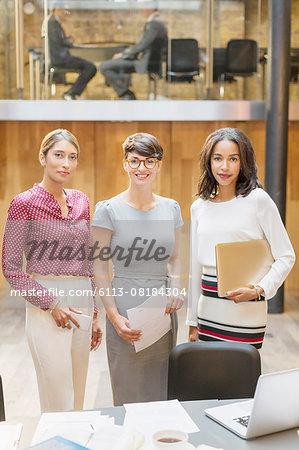 Portrait confident businesswomen in office