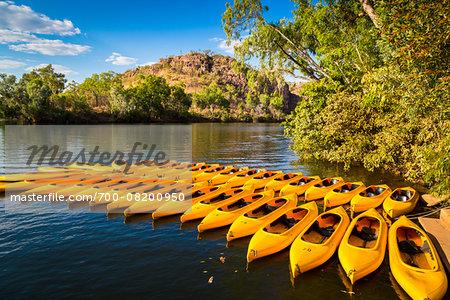 Canoes for Hire at Katherine Gorge, Nitmiluk National Park, Northern Territory, Australia