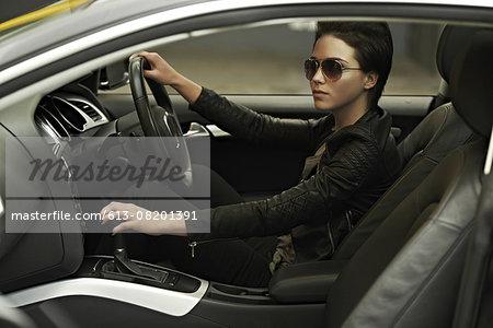 Stylish shades and a luxury car