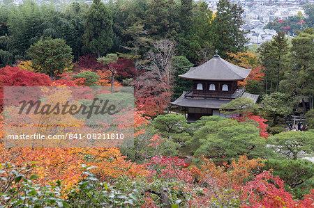The Silver Pavilion and gardens in autumn, Buddhist Temple of Ginkaku-ji, Northern Higashiyama, Kyoto, Japan, Asia