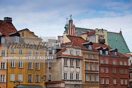 Buildings in Stare Miasto, Warsaw, Poland