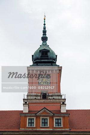 Clock Tower of Royal Castle, Stare Miasto, Warsaw, Poland