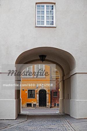 Passage through Building, Stare Miasto, Warsaw, Poland