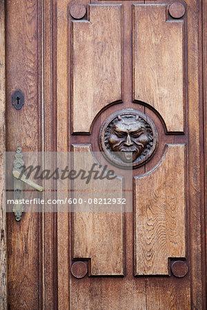 Detail on Door, Stare Miasto, Warsaw, Poland