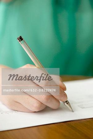 Applicant completing job application