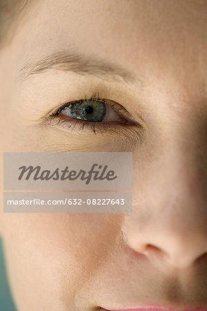 Woman's face, close-up