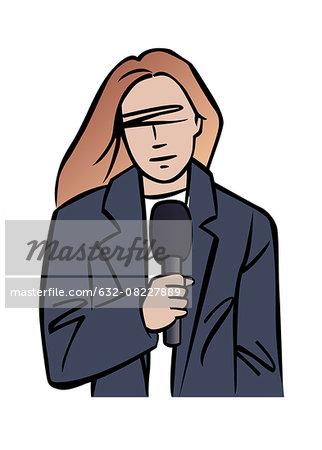 Illustration of TV reporter