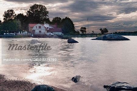 House at seashore, Vaxholm, Stockholm, Sweden