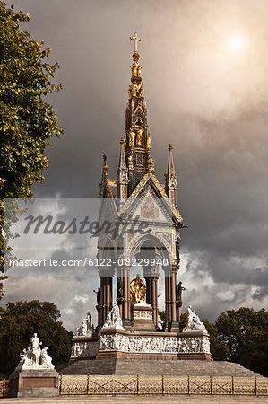 Albert Memorial against cloudy sky