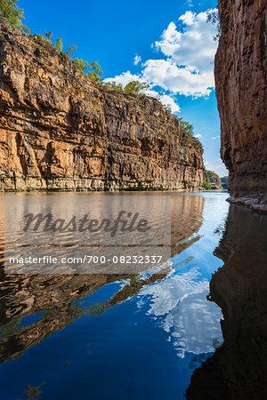Reflection in Katherine River, Katherine Gorge, Nitmiluk National Park, Northern Territory, Australia