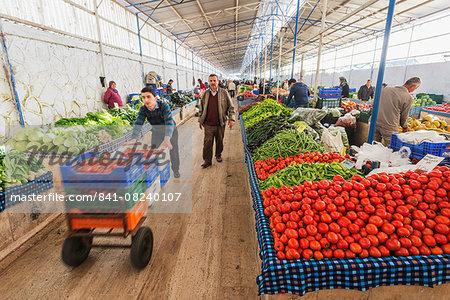 Fresh produce market, Fethiye, Anatolia, Turkey, Asia Minor, Eurasia
