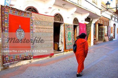 Carpet shop, The Medina, Rabat, Morocco, North Africa, Africa