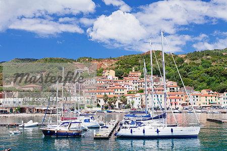 Harbour, Rio Marina, Island of Elba, Livorno Province, Tuscany, Italy, Mediterranean, Europe