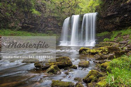 Sgwd yr Eira waterfall, Ystradfellte, Brecon Beacons National Park, Powys, Wales, United Kingdom, Europe