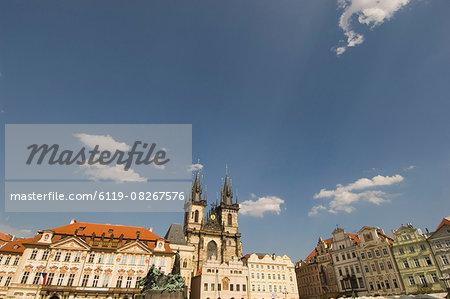 Skyline,Old Town Sq,Prague,Czechoslovakian Republic